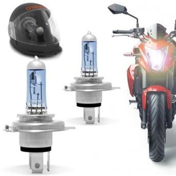 Lampada P/ Moto X-race Osram H4  Super Branca 55w/60w  Xenon  - Rea Comércio - Sua Loja Completa!