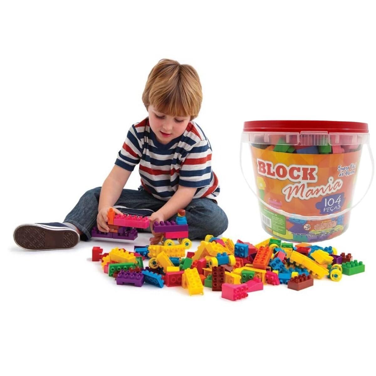 Blocos De Montar Infantil Brinquedo Educativo Peças 104 Peças  - Rea Comércio - Sua Loja Completa!
