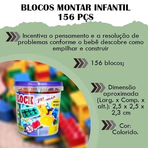 LEGO 156 PECAS / BLOCK / MONTA MONTA  - Rea Comércio - Sua Loja Completa!