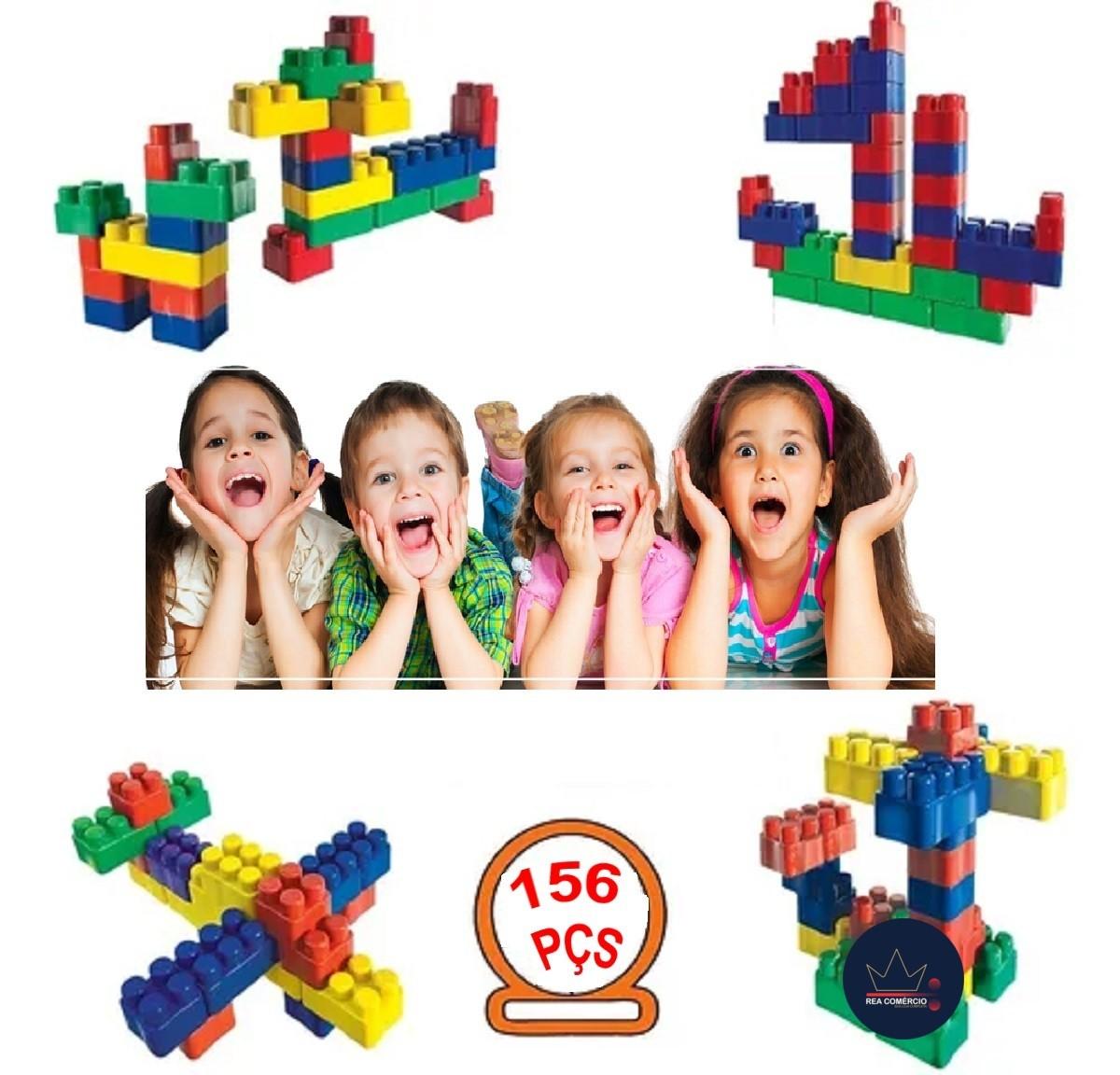 Blocos De Montar Infantil Brinquedo Educativo Didático de 156 Peças  - Rea Comércio - Sua Loja Completa!