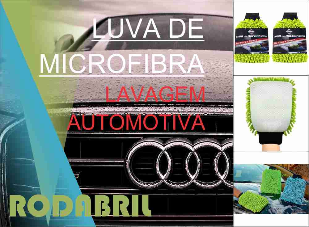 Luva De Microfibra RodaBril Lavagem Automotiva  - Rea Comércio - Sua Loja Completa!