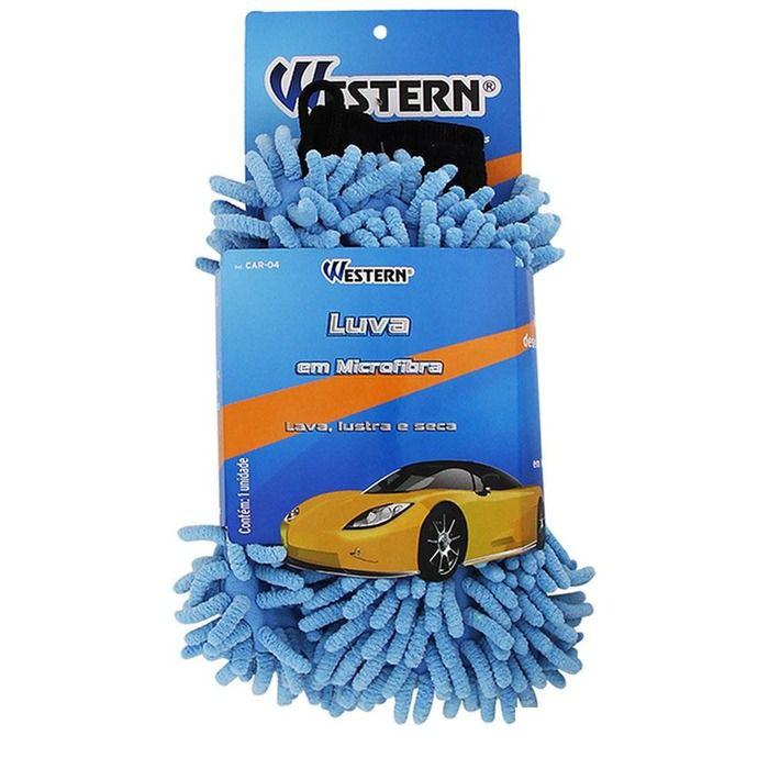 Luva De Microfibra Western Lavagem Multiuso Ref CAR-04  - Rea Comércio - Sua Loja Completa!