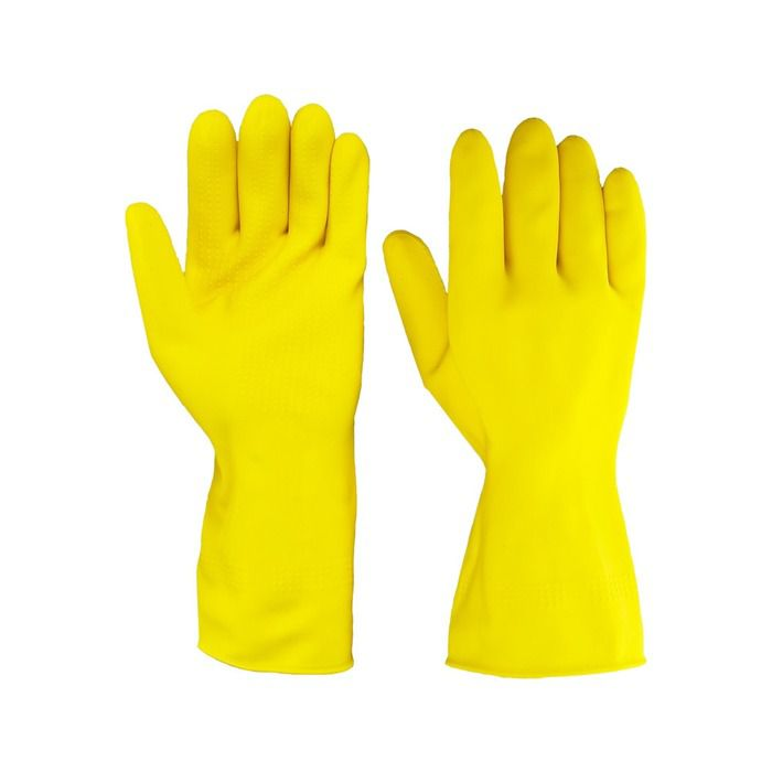 Luva Latex Amarela Para Limpeza De Casa Resistente Tam. M
