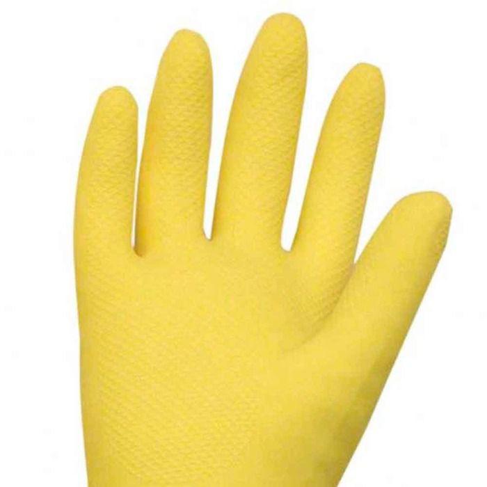 Luva Latex Amarela Para Limpeza De Casa Resistente Tam. M  - Rea Comércio - Sua Loja Completa!