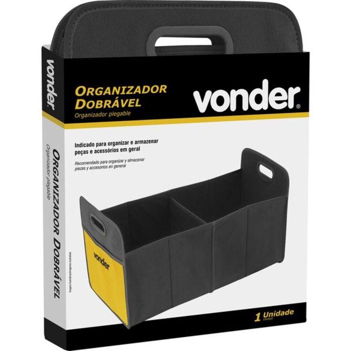 Organizador Dobrável com Divisórias 6108058036 - Vonder  - Rea Comércio - Sua Loja Completa!