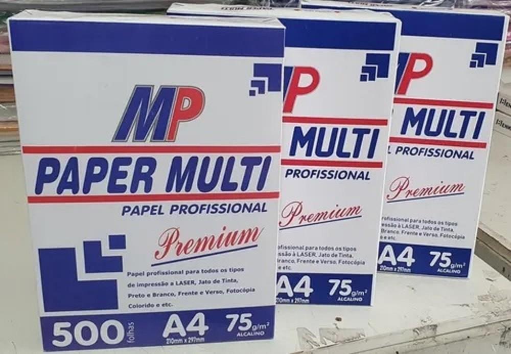 Papel Sulfite Paper Multi Branco Profissional A4 Premium    - Rea Comércio - Sua Loja Completa!