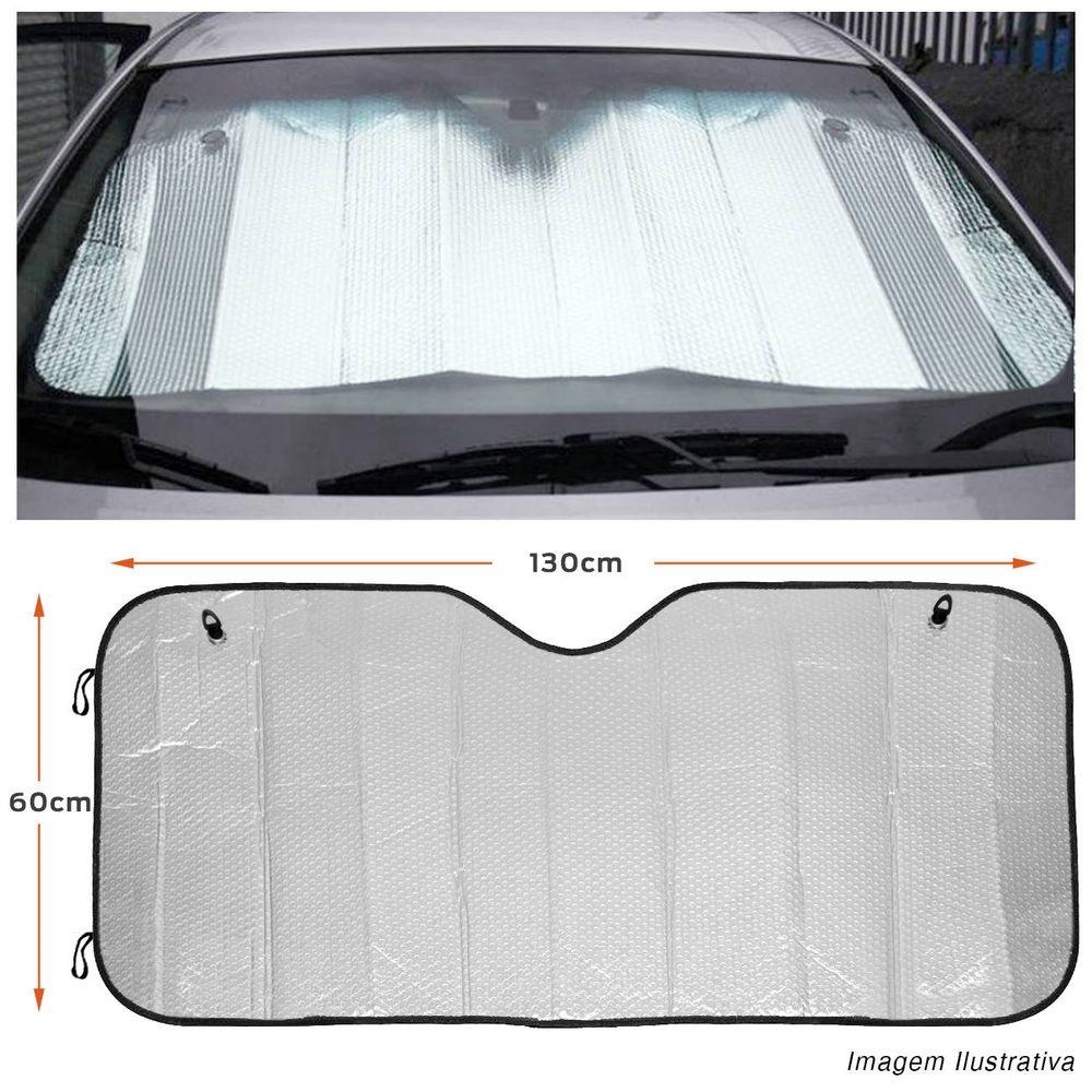 Protetor Solar Automotivo Para-brisa Universal Prata Metalizado  - Rea Comércio - Sua Loja Completa!
