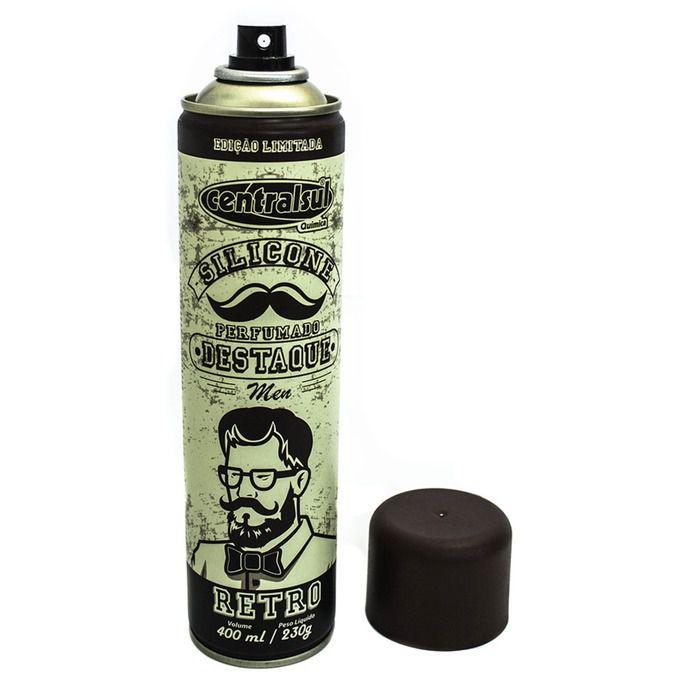 Silicone Perfumado Spray Destaque Men Retro 400ml  - Rea Comércio - Sua Loja Completa!