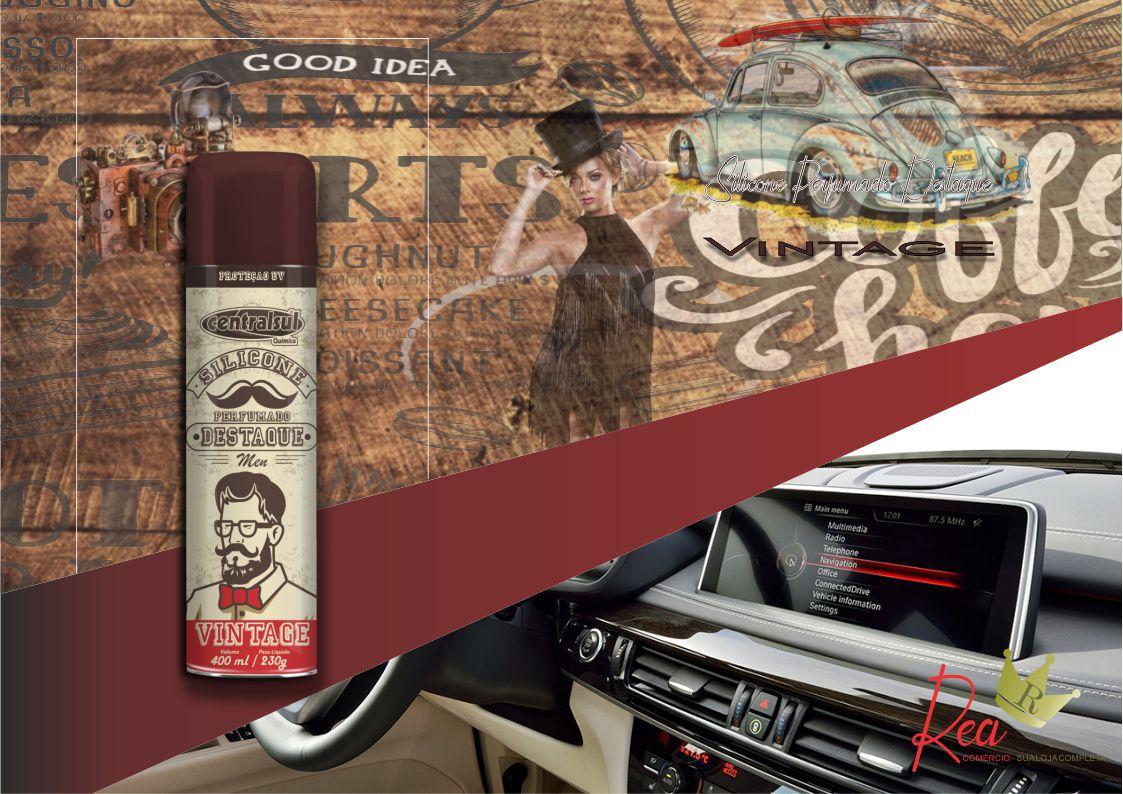 Silicone Perfumado Spray Destaque Men Vintage 400ml  - Rea Comércio - Sua Loja Completa!