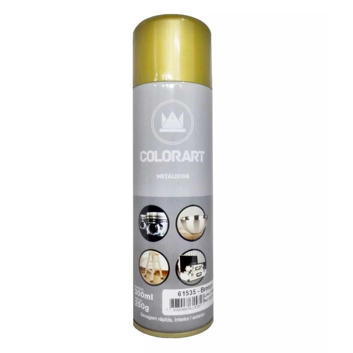 Tinta Spray ColorArt Bronze Metálico  - Rea Comércio - Sua Loja Completa!
