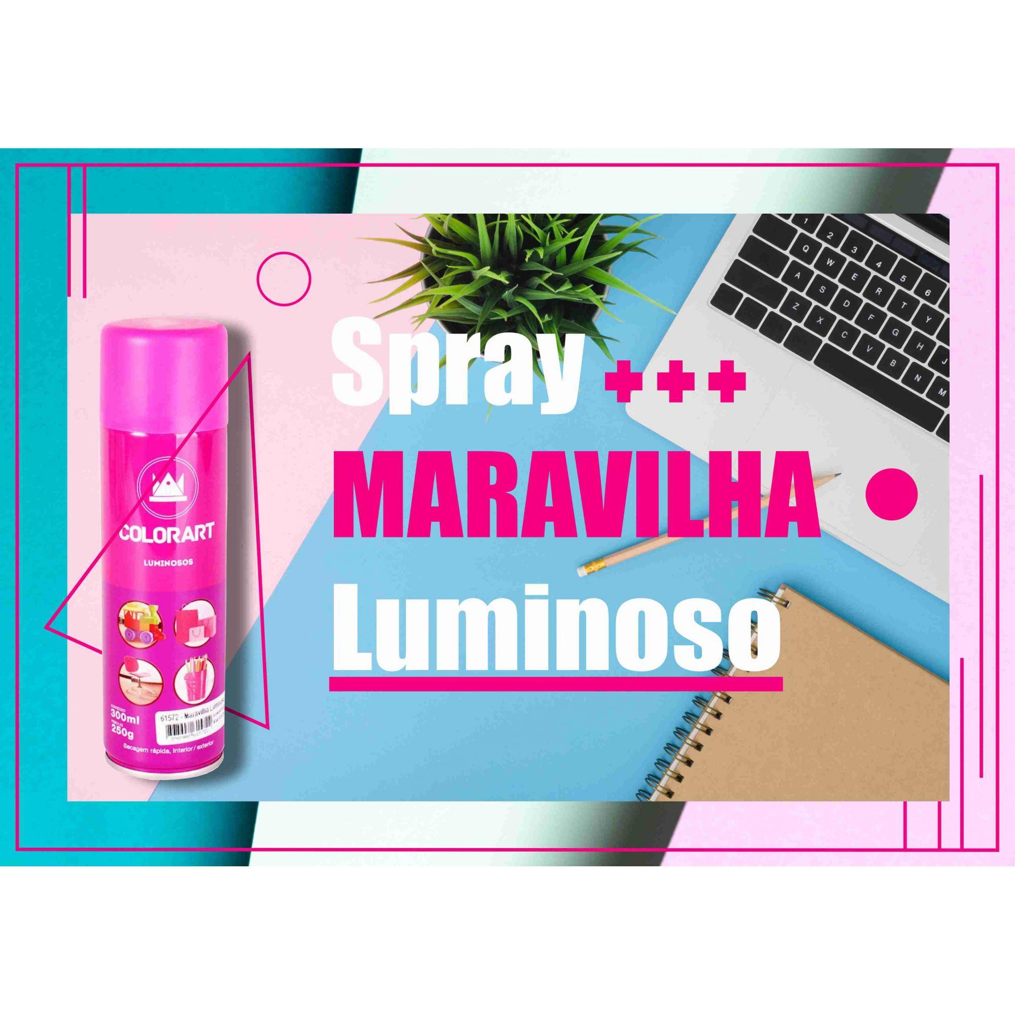 Tinta Spray Colorart  Maravilha Luminoso  - Rea Comércio - Sua Loja Completa!