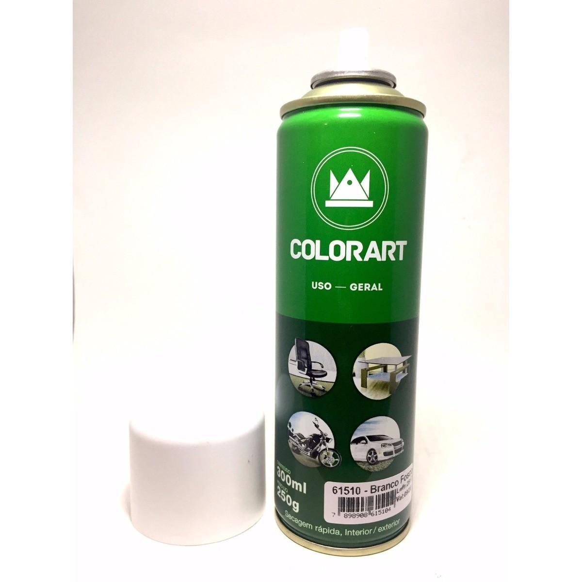 Tinta Spray Colorart Uso Geral Branco Fosco  - Rea Comércio - Sua Loja Completa!