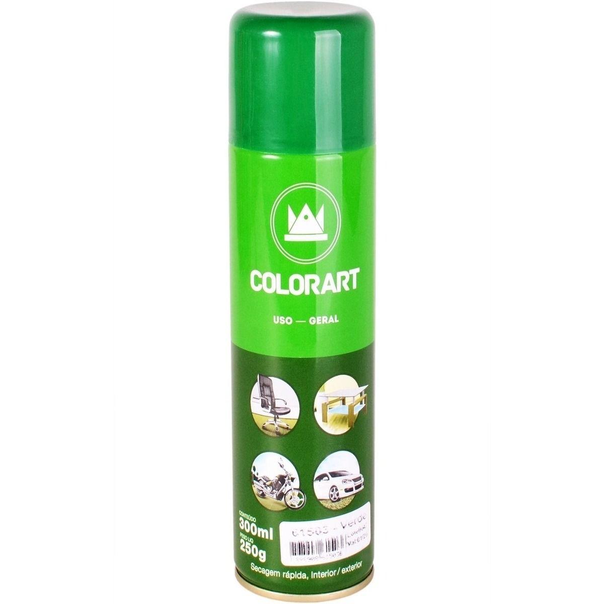 Tinta Spray Colorart Uso Geral Verde  - Rea Comércio - Sua Loja Completa!