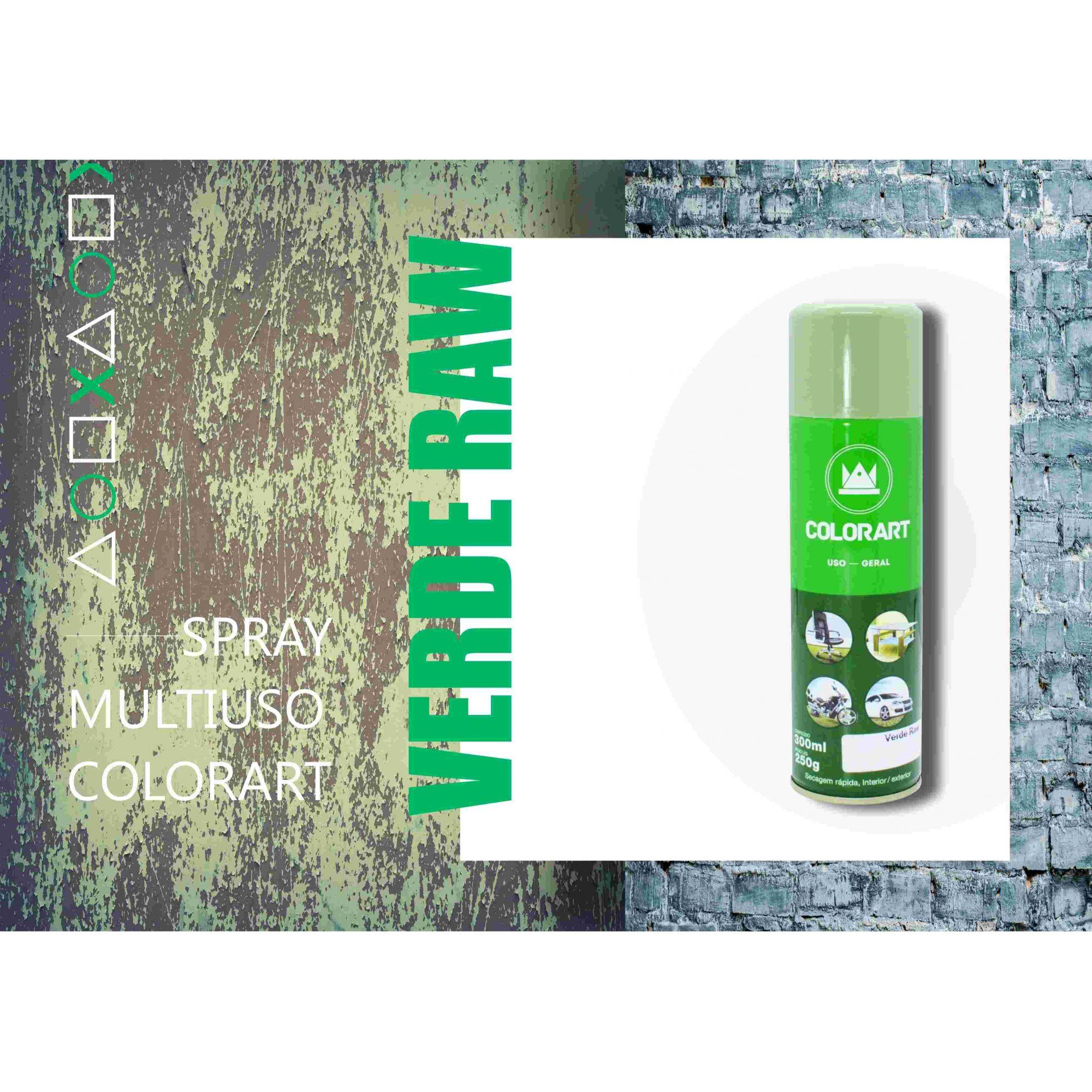 Tinta Spray Colorart Uso Geral Verde Raw  - Rea Comércio - Sua Loja Completa!