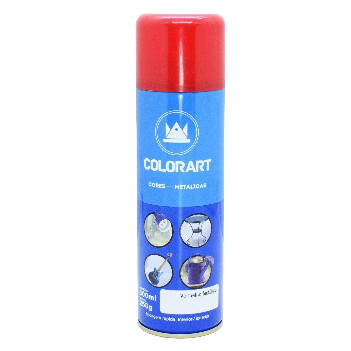 Tinta Spray Colorart Vermelho Metálica  - Rea Comércio - Sua Loja Completa!