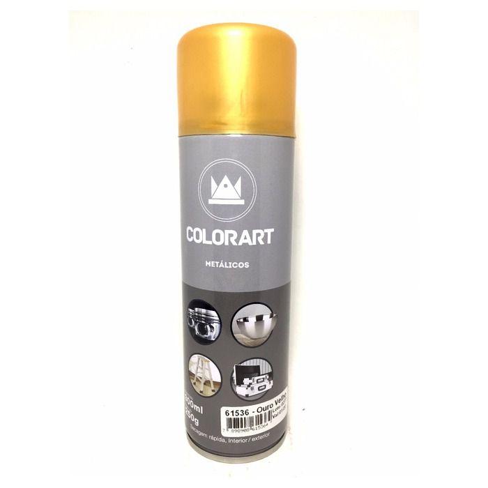 Tinta Spray Cores Metálicas Colorart Ouro Velho