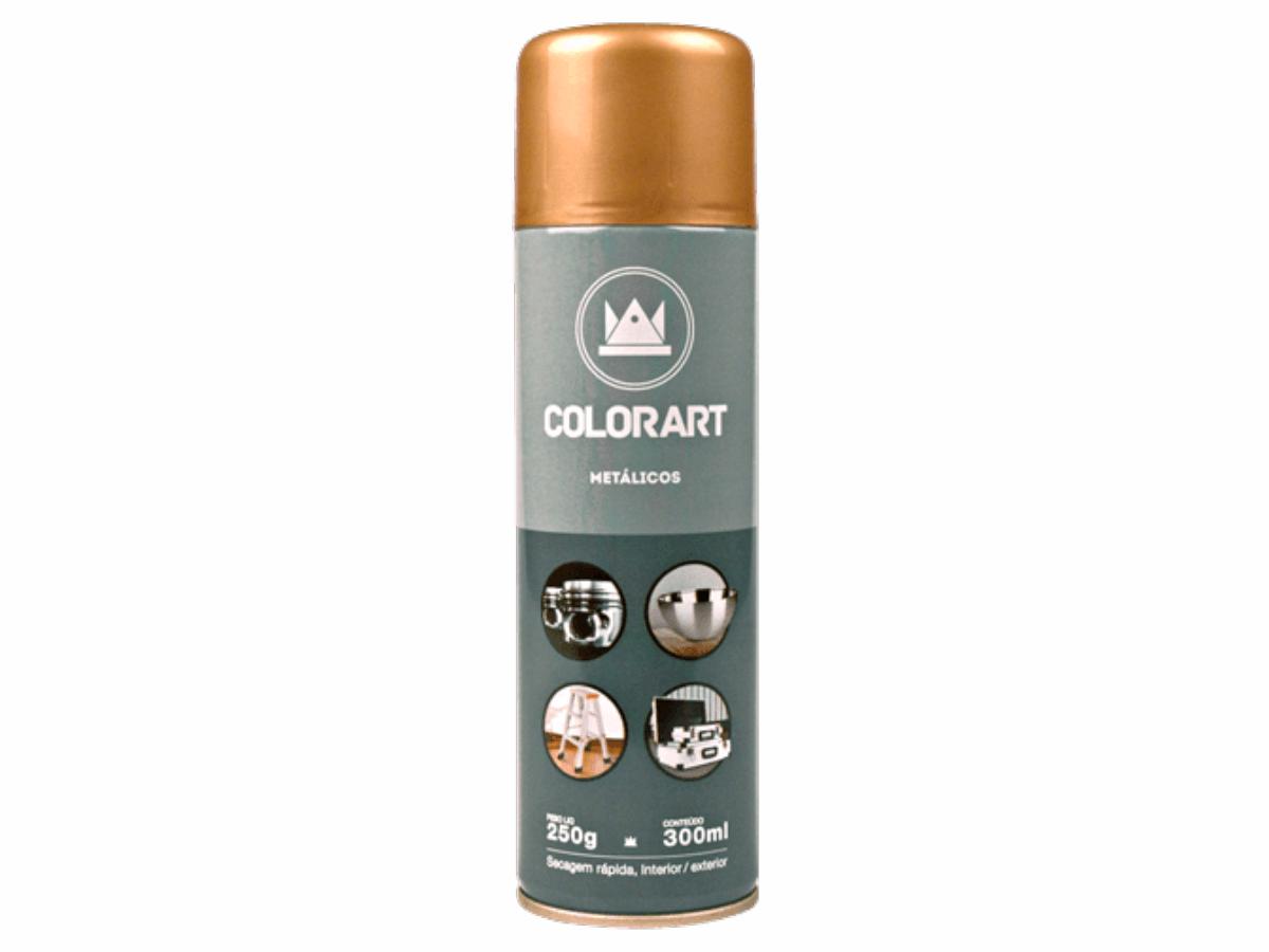 Tinta Spray Cores Metálicas Colorart Ouro Velho  - Rea Comércio - Sua Loja Completa!