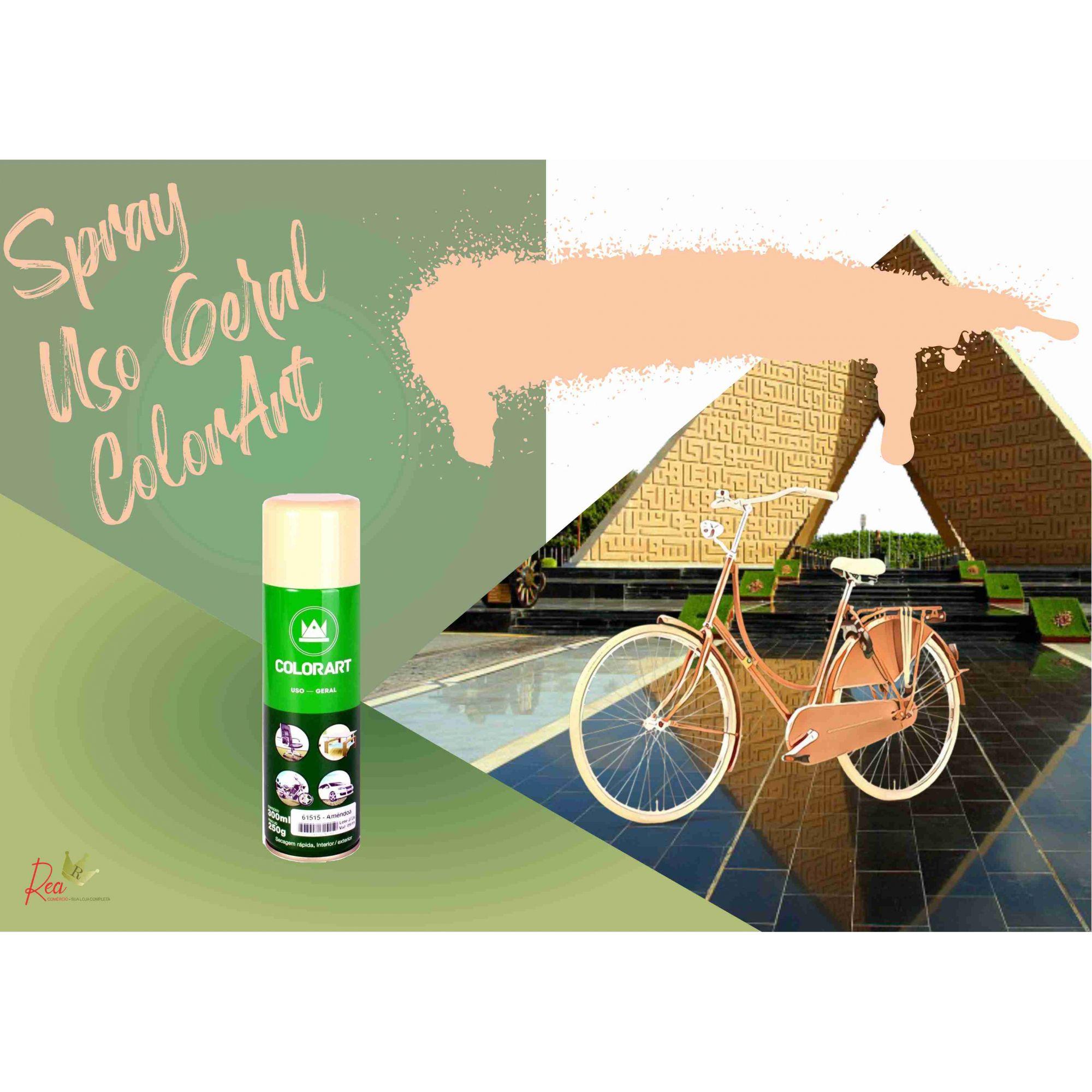 Tinta Spray Uso Geral Colorart Amêndoa
