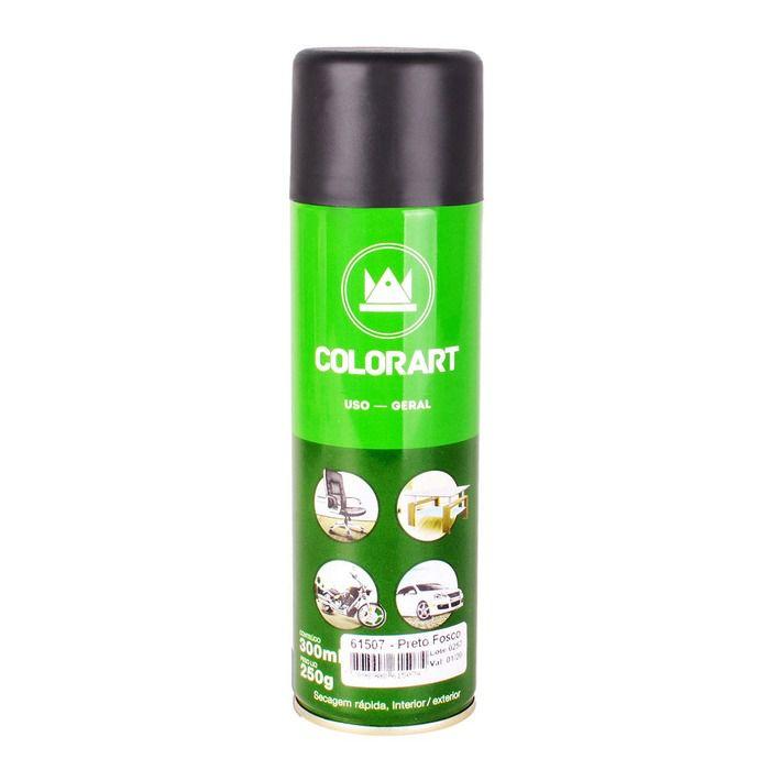 Tinta Spray Uso Geral Colorart Preto Fosco  - Rea Comércio - Sua Loja Completa!