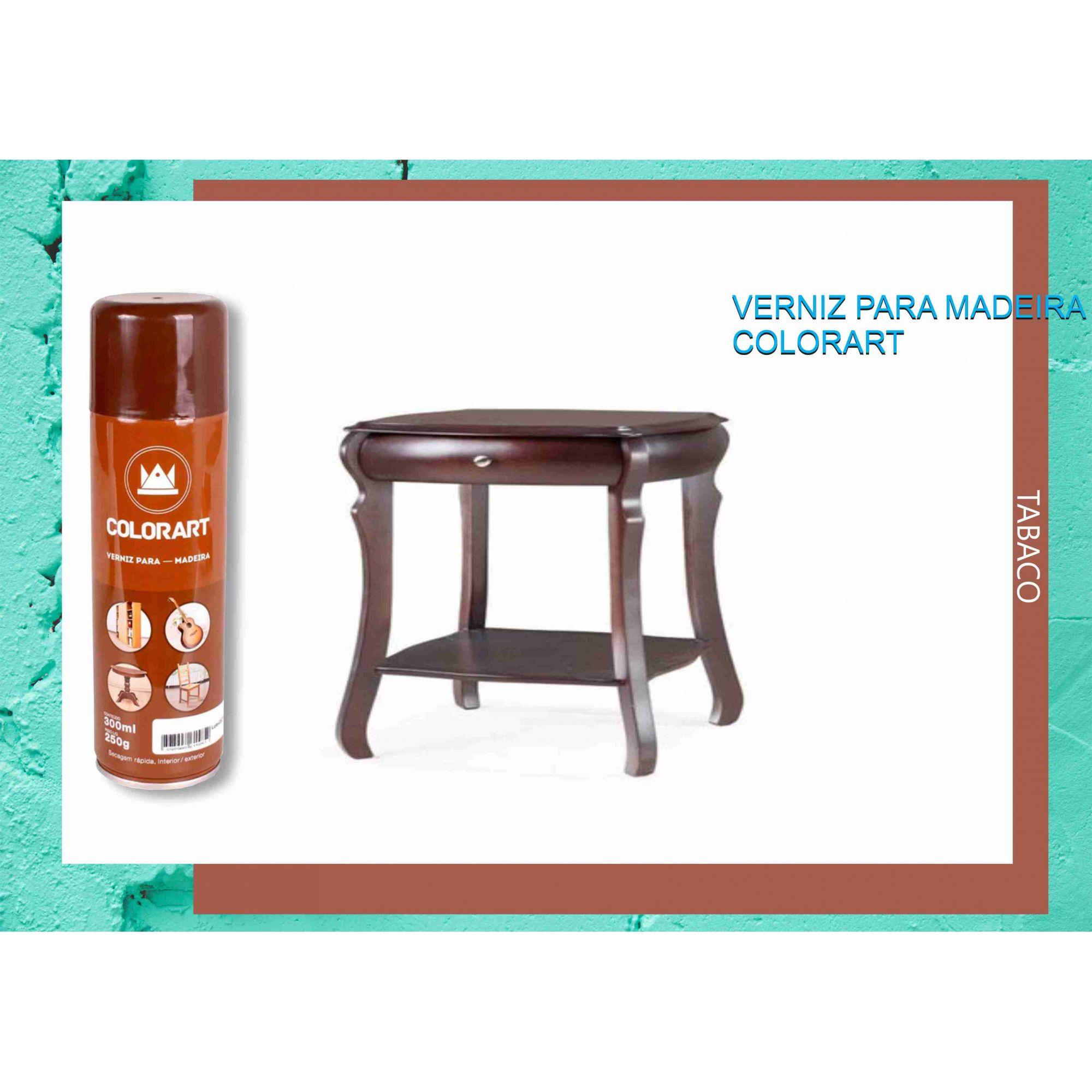 Tinta Spray Verniz para madeira Color Art Tabaco  - Rea Comércio - Sua Loja Completa!