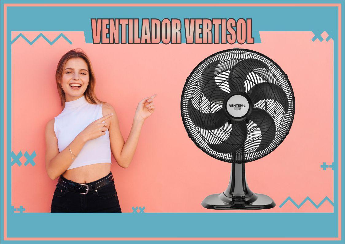 Ventilador de Mesa Turbo 40cm 6 Pás Preto 127V - Ventisol  - Rea Comércio - Sua Loja Completa!