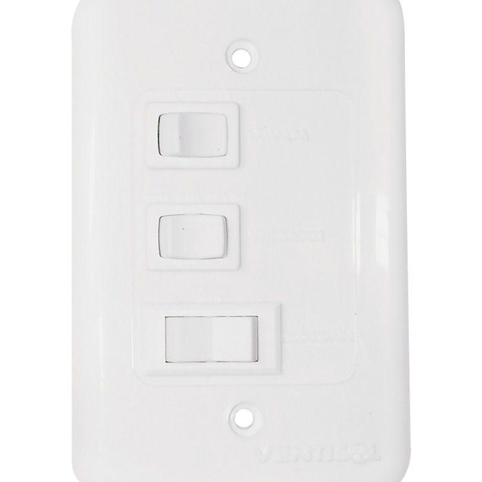 Ventilador de Teto Aires 3 Pás com Luminária Branco - 220V    - Rea Comércio - Sua Loja Completa!