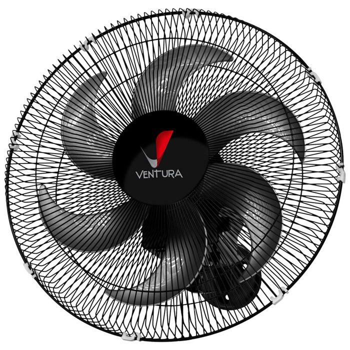 Ventilador oscilante de parede 50 cm preto - Ventura  - Rea Comércio - Sua Loja Completa!