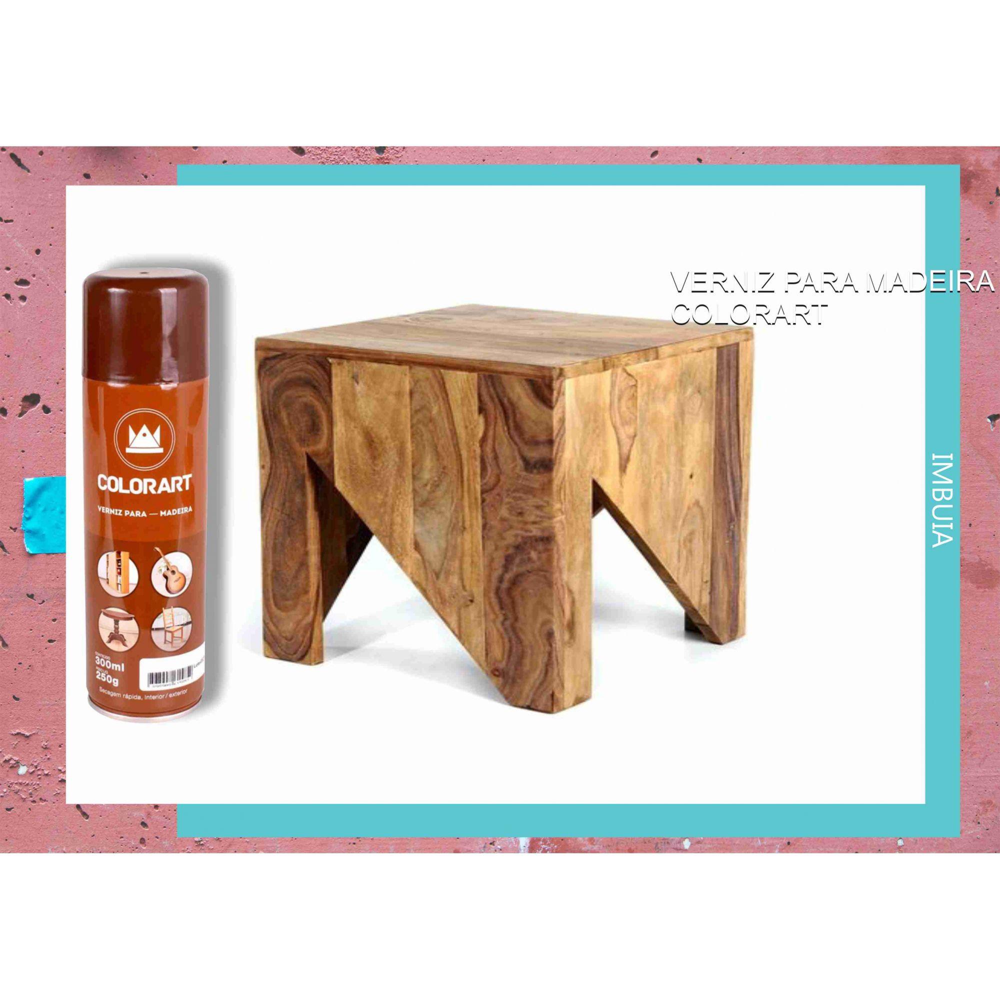 Verniz em Spray Para Madeira Colorart Imbuia  - Rea Comércio - Sua Loja Completa!