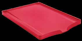 Bandeja Tramontina Plurale para Louca em Polipropileno Vermelho com Superficie Coletora