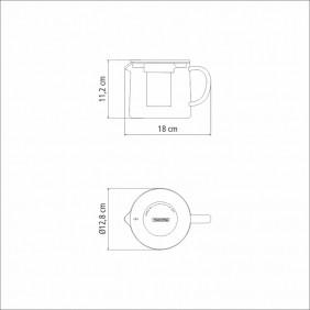 Bule para CHA Tramontina em Vidro e ACO INOX com Infusor 900 ML 61762090