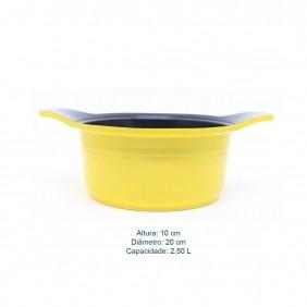 Cacarola Antiaderente com Revestimento Ceramico e Tampa de Vidro Roichen Natural Ceramic 20 CM 2,50 Litros Amarela RNC-20C/YS