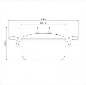Cacarola em Aluminio Antiaderente com Tampa de Vidro Tramontina Paris 20 CM 3,0 Litros Vermelha 20520/720