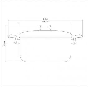 Cacarola em Aluminio Antiaderente com Tampa Tramontina Paris 28 CM 8,30 Litros Grafite 20520/628