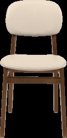 Cadeira de Madeira Tramontina London em Tauari Amendoa sem Bracos com Estofado Bege