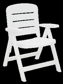 Cadeira Tramontina Iracema Encosto Baixo em Polipropileno Branco