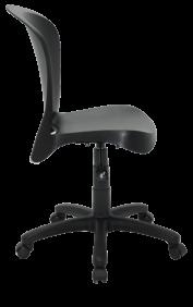 Cadeira Tramontina Jolie Preta sem Bracos em Polipropileno com Rodizio