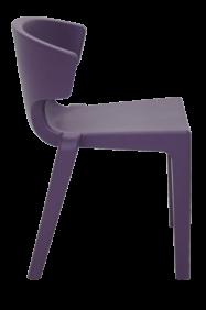 Cadeira Tramontina Marilyn Lilas em Polietileno sem Bracos