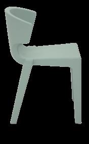 Cadeira Tramontina Marilyn Salvia em Polietileno sem Bracos