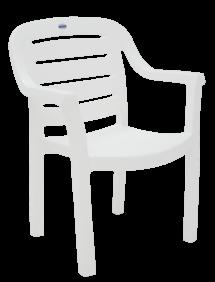 Cadeira Tramontina Miami Encosto Horizontal em Polipropileno Branco