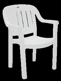 Cadeira Tramontina Miami Encosto Vertical em Polipropileno Branco