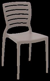 Cadeira Tramontina Sofia Camurca sem Bracos Encosto Vazado Horizontal em Polipropileno e Fibra de Vidro
