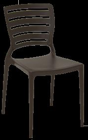 Cadeira Tramontina Sofia Marrom sem Bracos Encosto Vazado Horizontal em Polipropileno e Fibra de Vidro