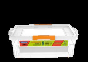 Caixa Organizadora Tramontina Basic com Tampa em Plastico Transparente 40 L
