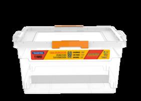 Caixa Organizadora Tramontina Basic com Tampa em Plastico Transparente 60 L