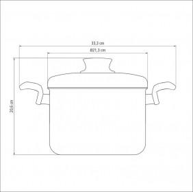 Caldeirao em Aluminio Antiaderente com Tampa Tramontina Paris 20 CM 4,5 Litros Grafite 20530/620