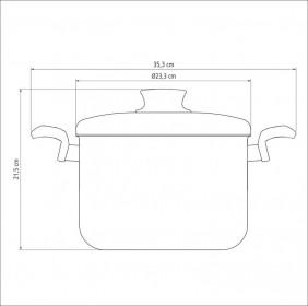 Caldeirao em Aluminio Antiaderente com Tampa Tramontina Paris 22 CM 6,0 L Grafite 20530/622