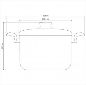 Caldeirao em Aluminio Antiaderente com Tampa Tramontina Paris 24 CM 7,50 L Grafite 20530/624