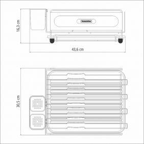 Escorredor de Louca Tramontina Plurale em ACO INOX Preto com Secador e Porta Talheres