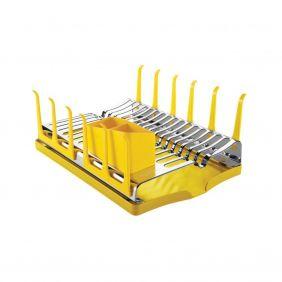 Escorredor de Louças em Aço Inox Com Bandeja Coletora Tramontina Plurale Amarela 61535/080