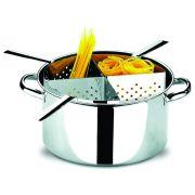 Espagueteira Profissional Aço Inox 4 Divisões 10 Litros Brinox Savoy 1075/200
